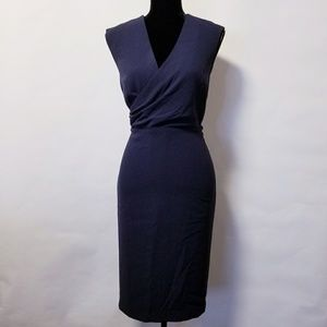 Ann Taylor navy blue career party dress 8p